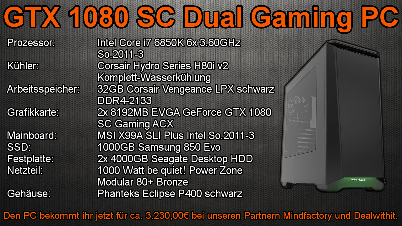 GTX 1080 SC Dual Gaming PC